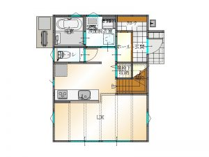 1F間取り|大分市津守の新築建売住宅