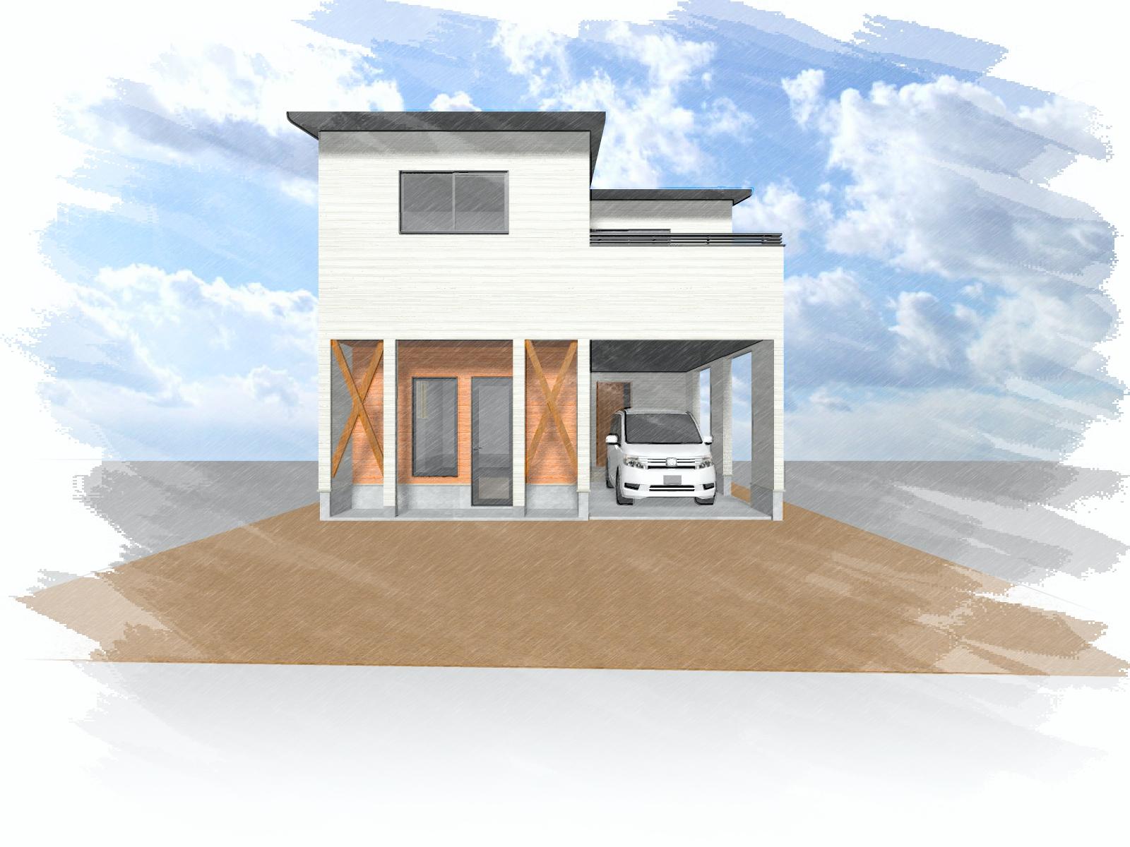 大分市古ケ鶴(牧駅)店舗付き新築一戸建て建売住宅 2階建て3LDK 外観イメージ