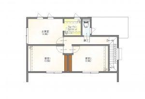 SAKAIの家挾間A棟の2階間取り図
