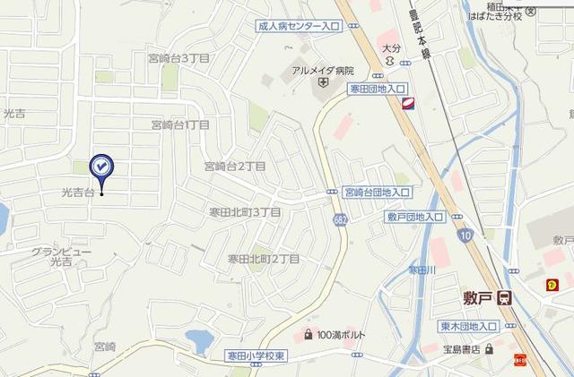 大分市光吉 売土地 ロケーションマップ|大分不動産情報サービス物件情報