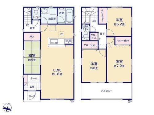 間取り|大分市富士見ヶ丘東(豊後国分駅)新築建売住宅 4LDK