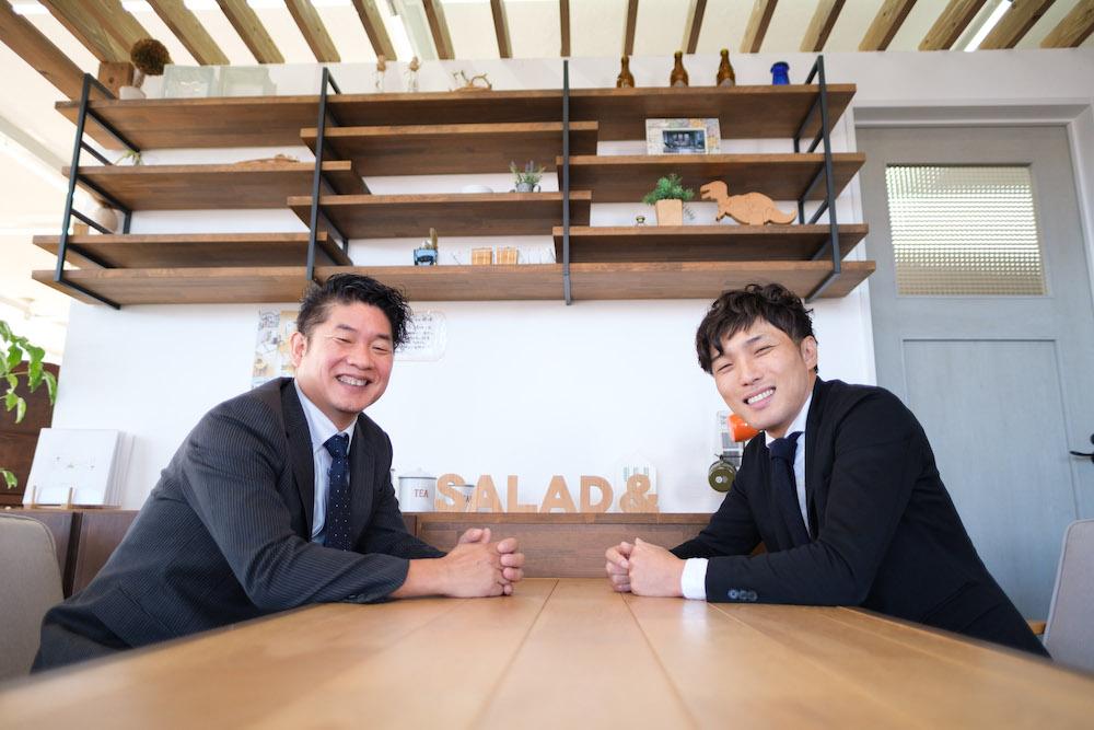 SAKAI株式会社 代表臼井と先代の坂井さん