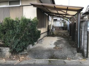 由布市挾間町 中古住宅 駐車場屋根付き