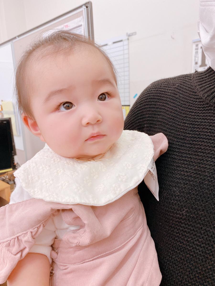 育児休暇中のSAKAI株式会社スタッフの赤ちゃんの写真