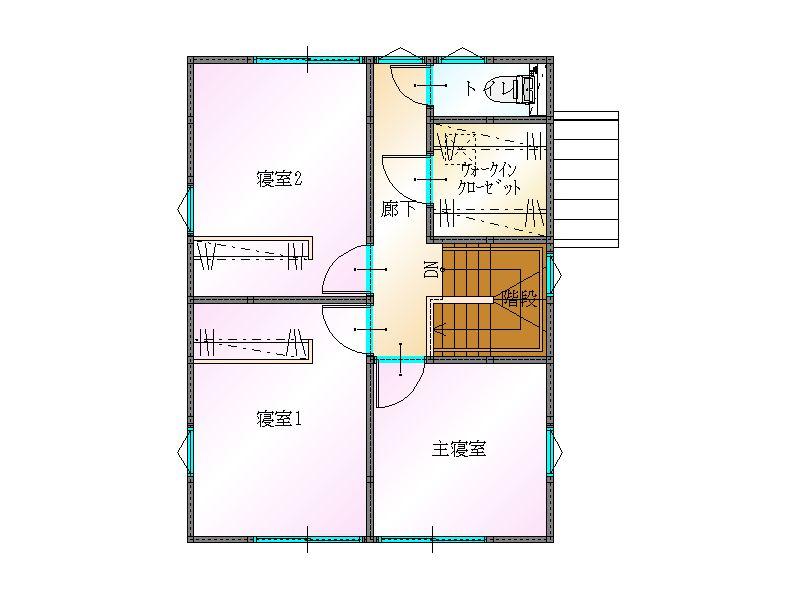 大分不動産情報サービスの物件情報|2F間取り|大分市津守の新築建売住宅