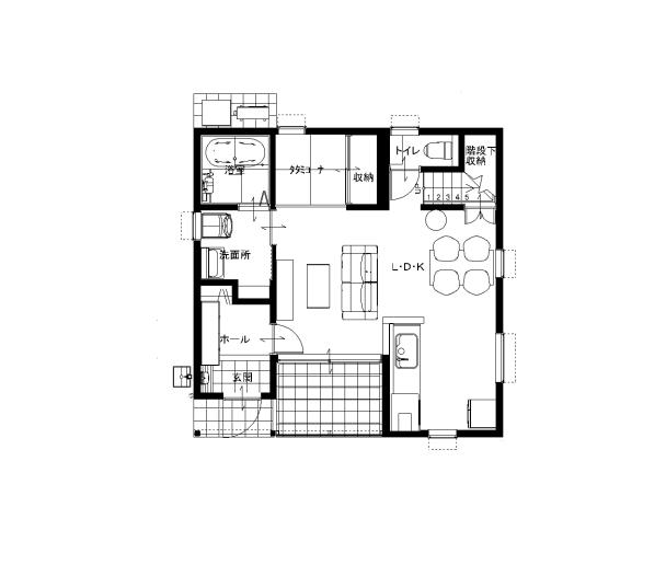大分市田尻新築建売住宅A棟 サラダホームの建売住宅 1階間取り