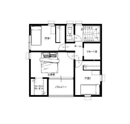 大分市田尻新築建売住宅A棟 サラダホームの建売住宅 2階間取り