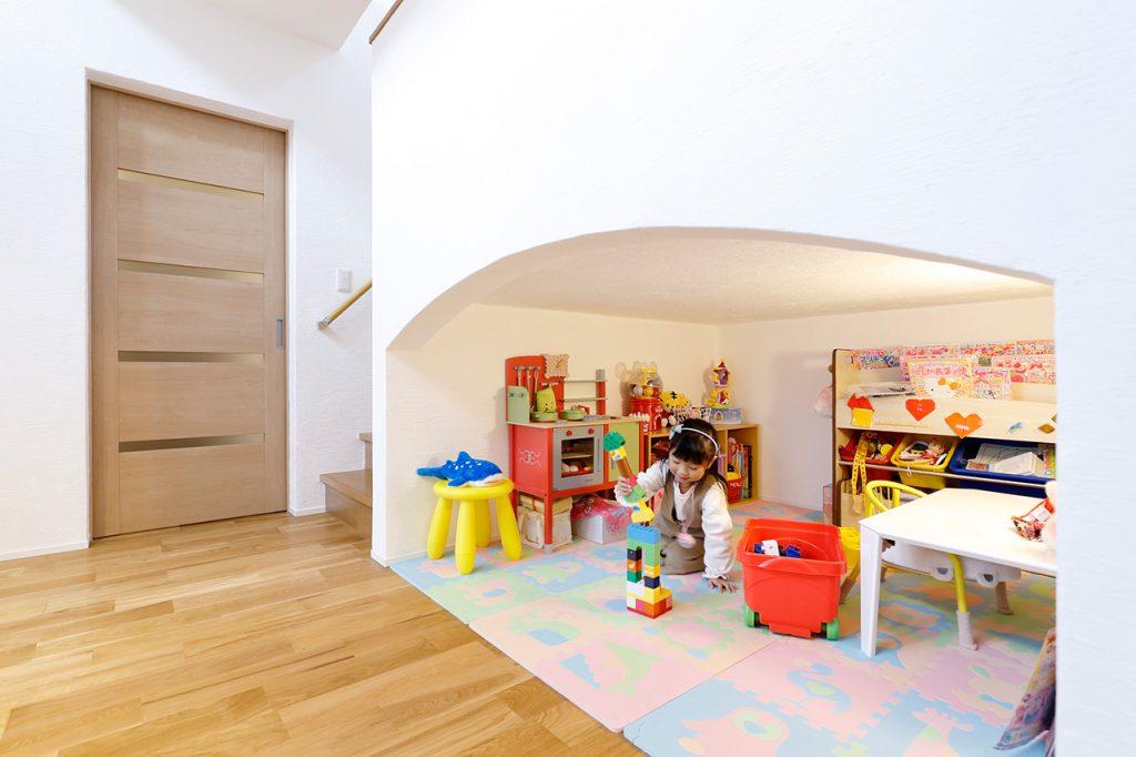 弊社が手掛けた新築住宅のお子様が遊べるスペース