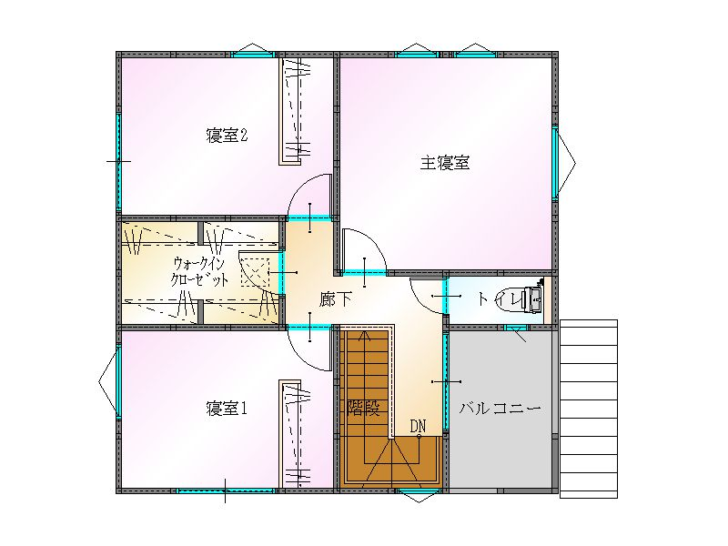 大分不動産情報サービスの物件情報|2F間取り|大分市永興 新築売戸建住宅