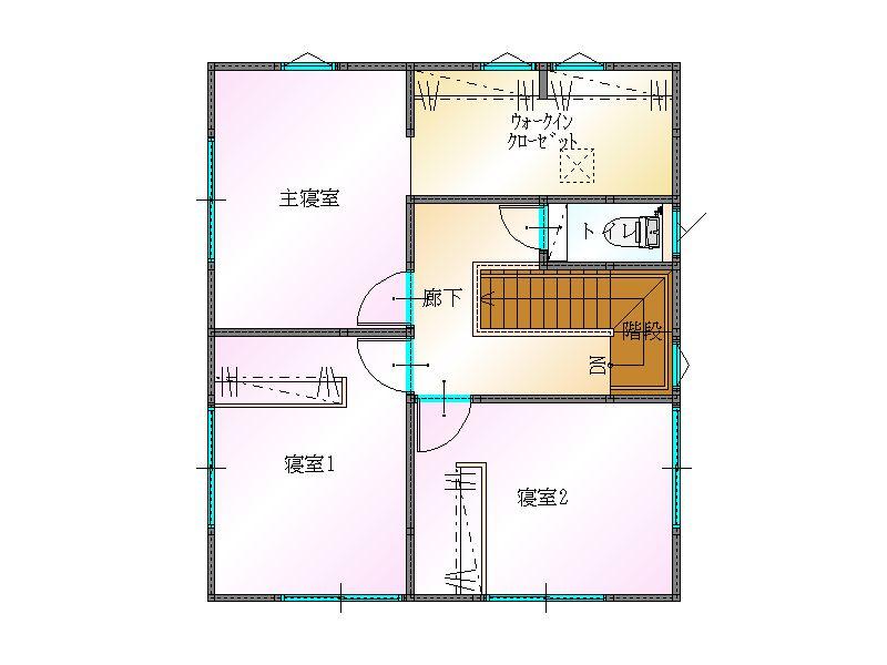 大分市建売片島東2階 平面図