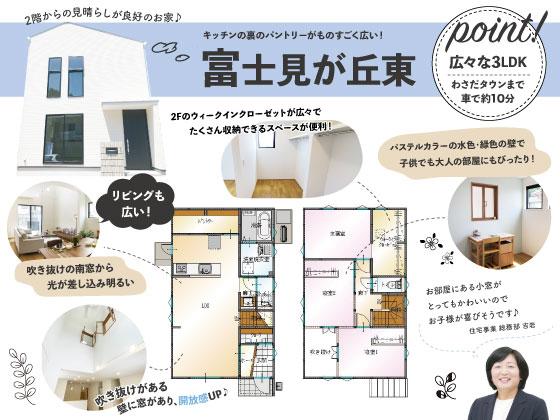 大分市富士見が丘 新築建売SAKAIの家のチラシ