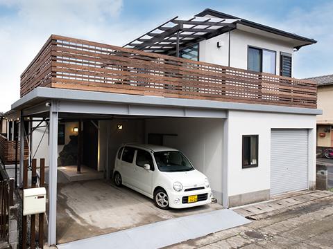 中古住宅リノベーションのお客様対談 駐車場のこだわり|大分不動産情報サービス