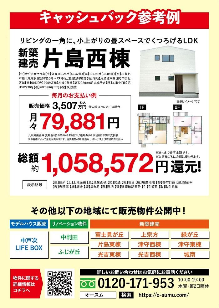 1年分住宅ローン払うキャンペーン(裏)