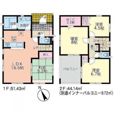 大分市政所2丁目 新築建売1-2期3号棟